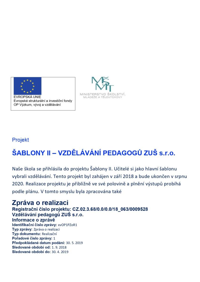 "Projekt ""Šablony II"""