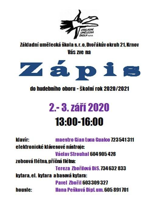 Zápis Do HO 2020/2021